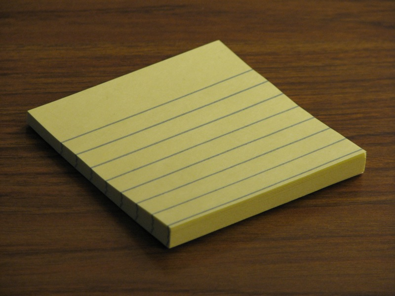 first ever Post It Note Pad